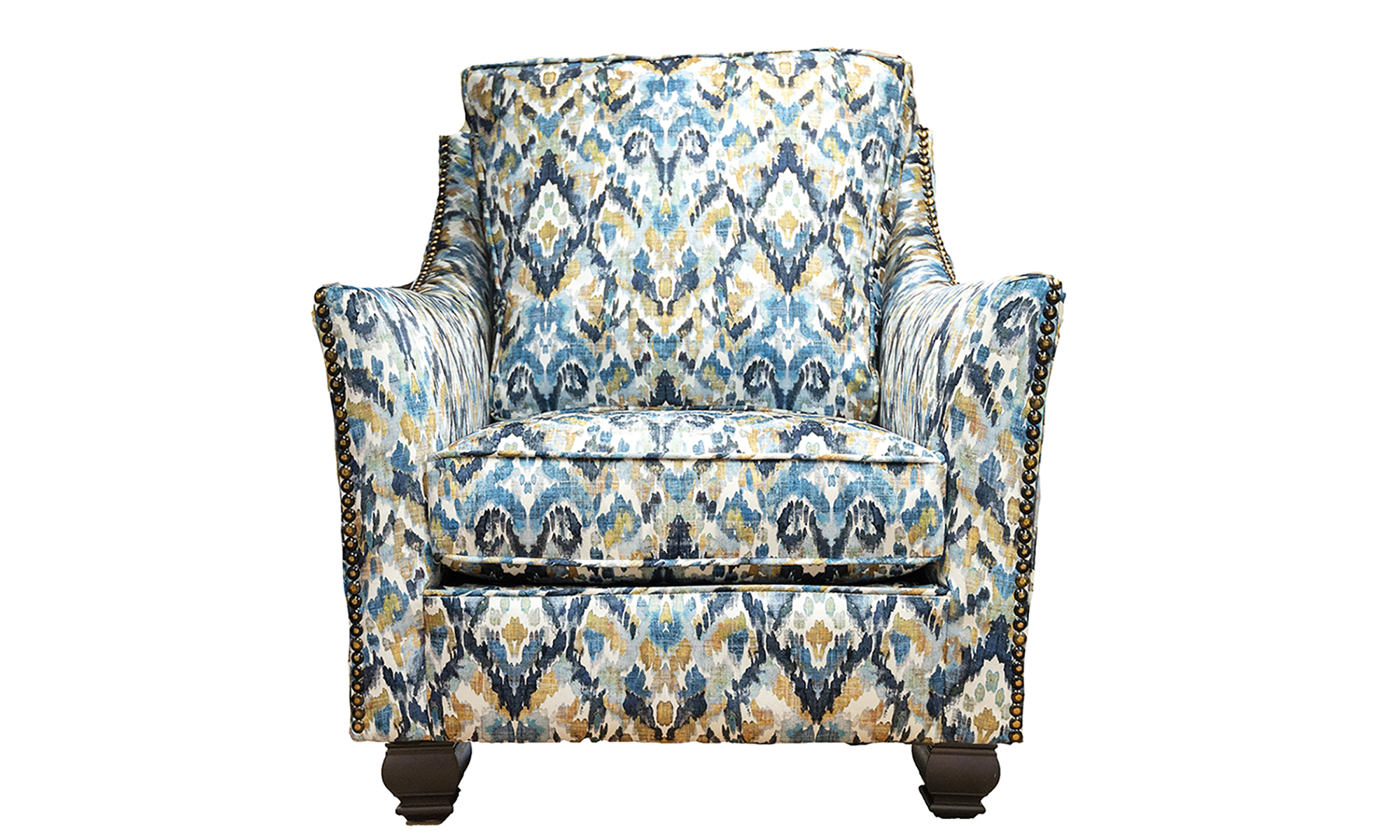Grenoble Chair in Monet Winter, Platinum Collection Fabric