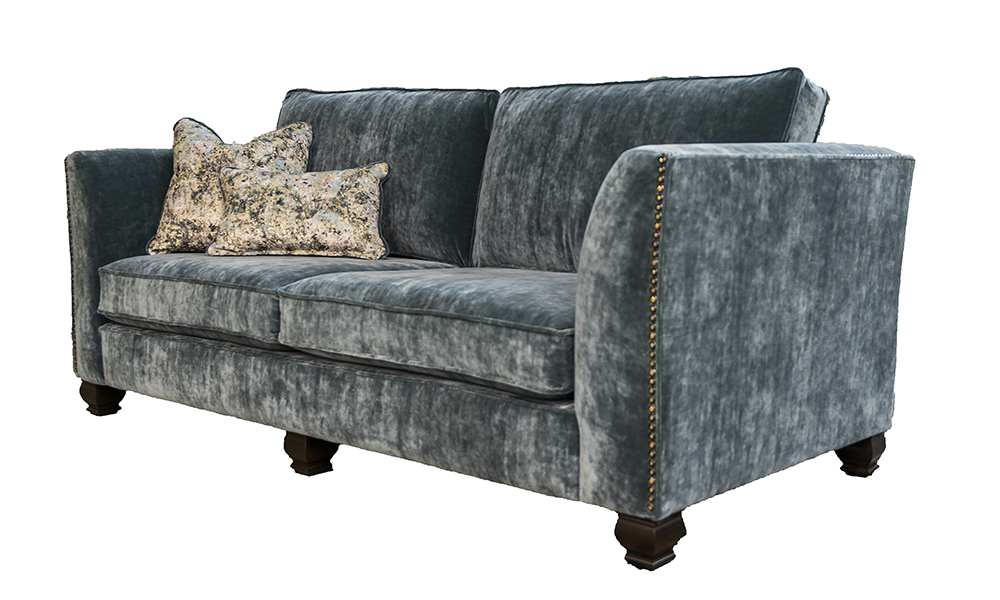 Granada 3 Seater Sofa in Boulder Aqua, Platinium Collection Fabric