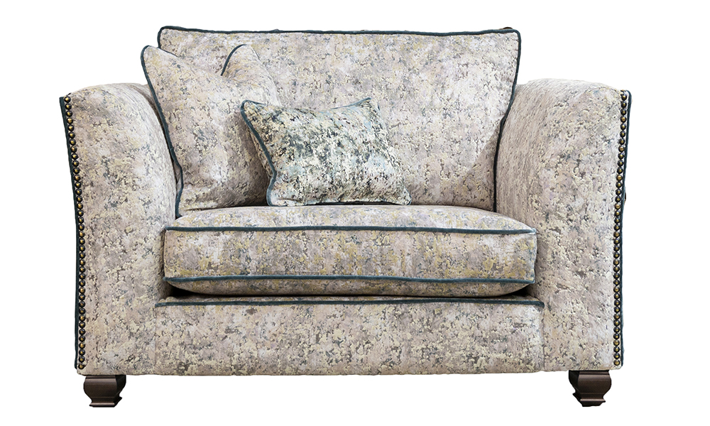 Granada Love Seat in Igloo Cloud, Platinium Collection Fabric