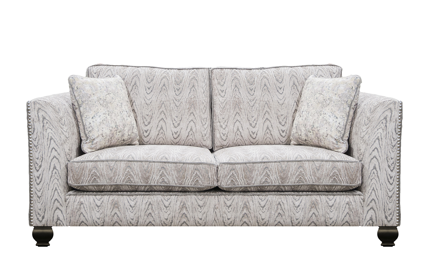 Granada 2 Seater Sofa Monaco Geometric Taupe Platinum Collection Fabric
