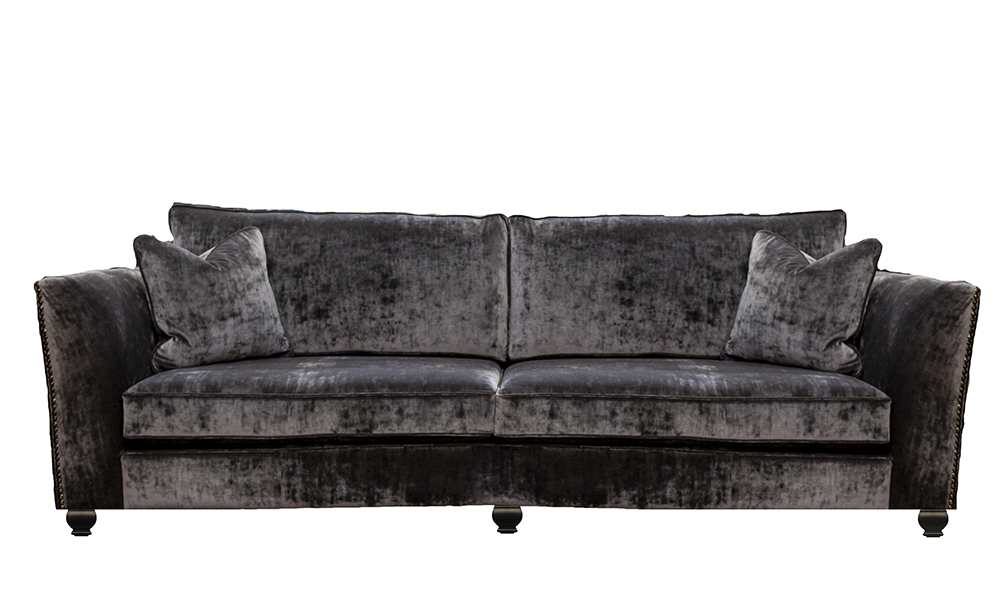 Grand Granda Sofa in Boulder Charcoal, Platinum Collection Fabric