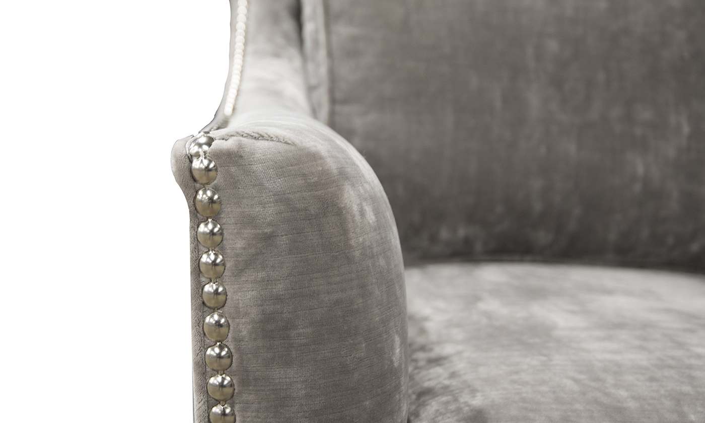 Arm Detail in Boulder Silver, Platinum Collection Fabrics