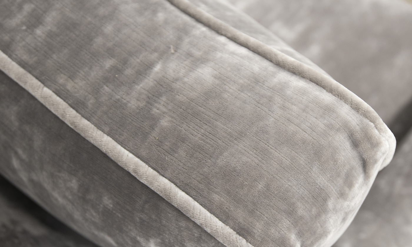 Back Cushion Detail in Boulder Silver, Platinum Collection Fabrics