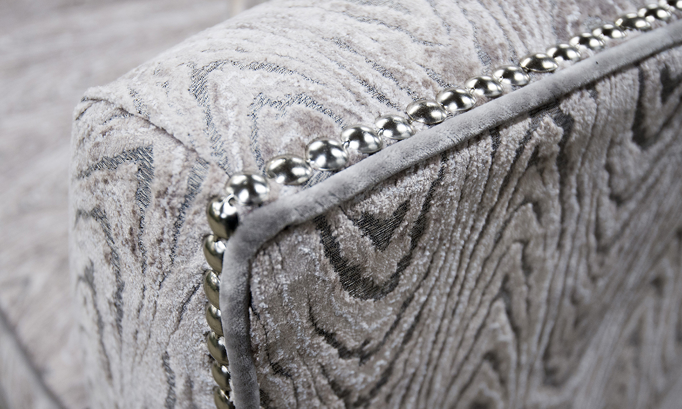 Arm detail Monaco Geometric Taupe, Platinum Collection Fabrics