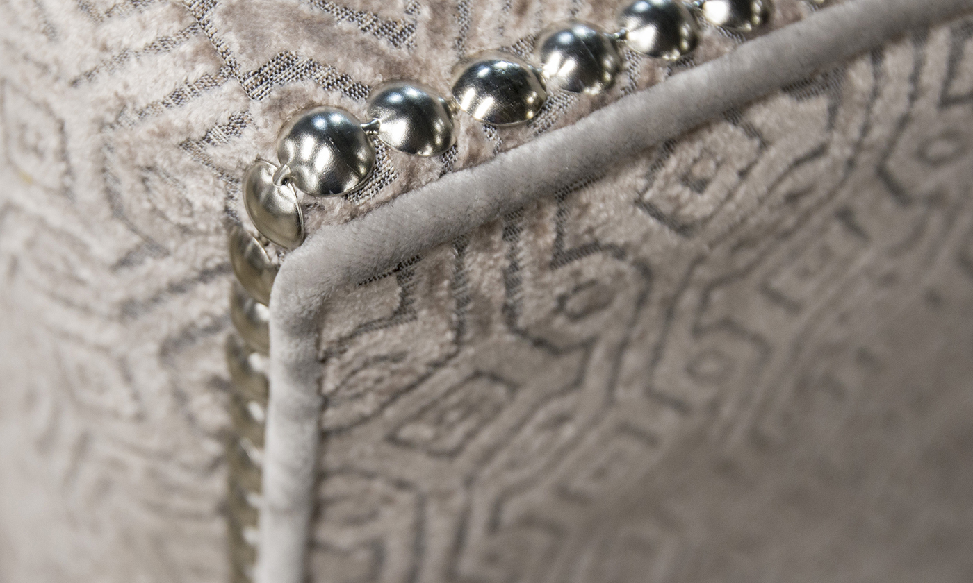 Arm Detail detail Monaco Pattern Taupe, Platinum Collection Fabrics