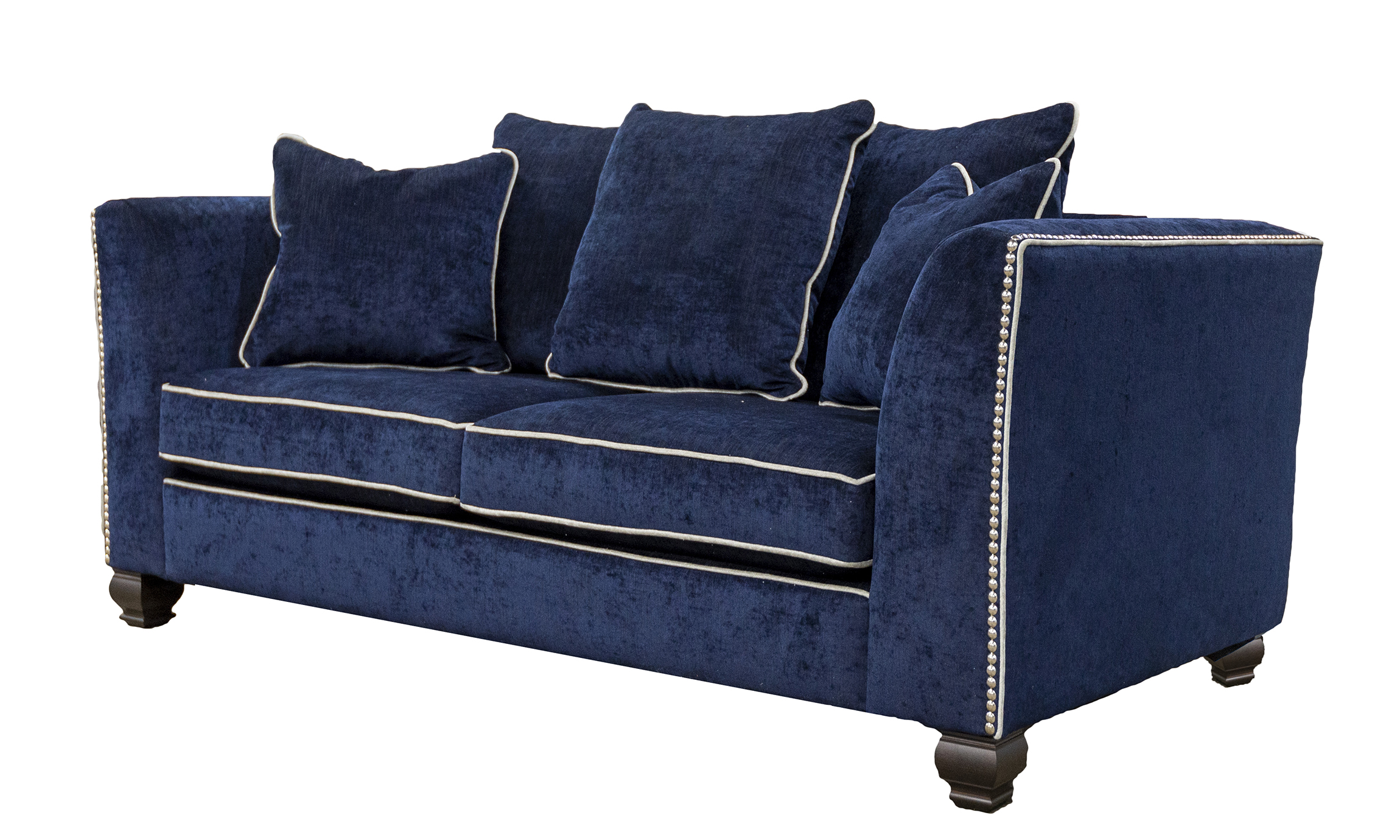 Grenoble 3 Seater Sofa in Edinburgh Carbon, Silver Collection Fabric