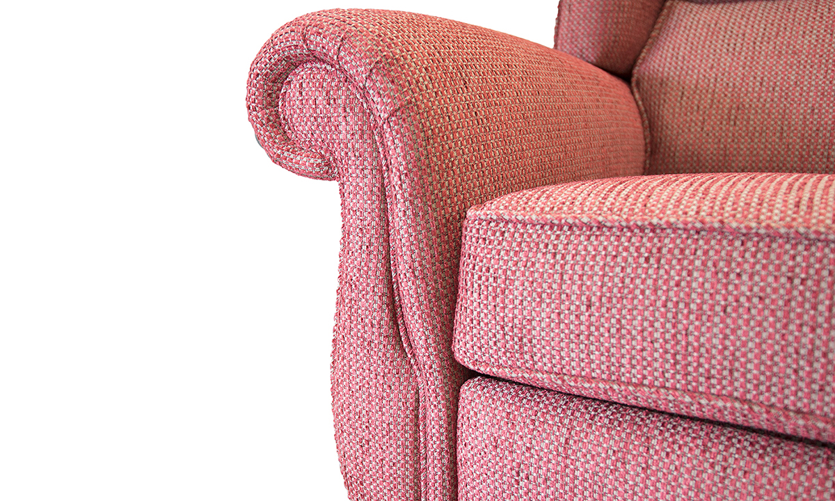 Greville Recliner Chair Arm Detail in fontington Tessuto 1551