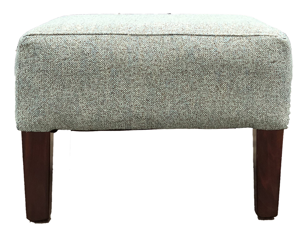 Harvard Footstool in  Belize Seacrest Bronze Collection Fabric