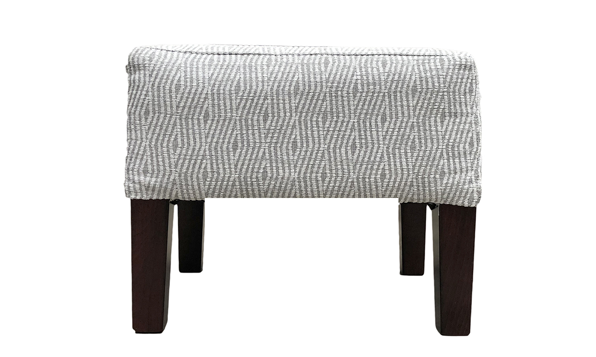 Harvard Footstool in 17013 Pattern, Bronze Collection Fabric