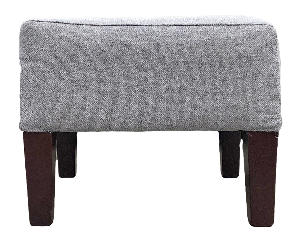 Harvard Footstool in Belize Azzure Bronze Collection Fabric