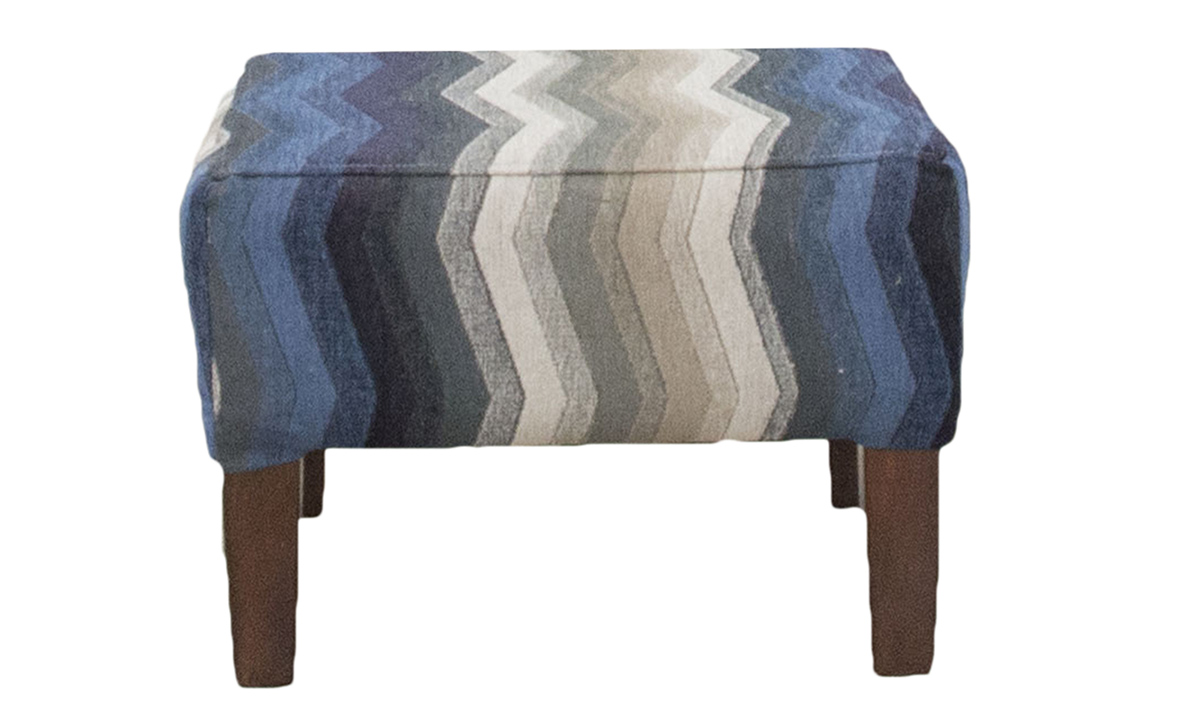 Harvard Footstool in 17019, Bronze collection Fabric