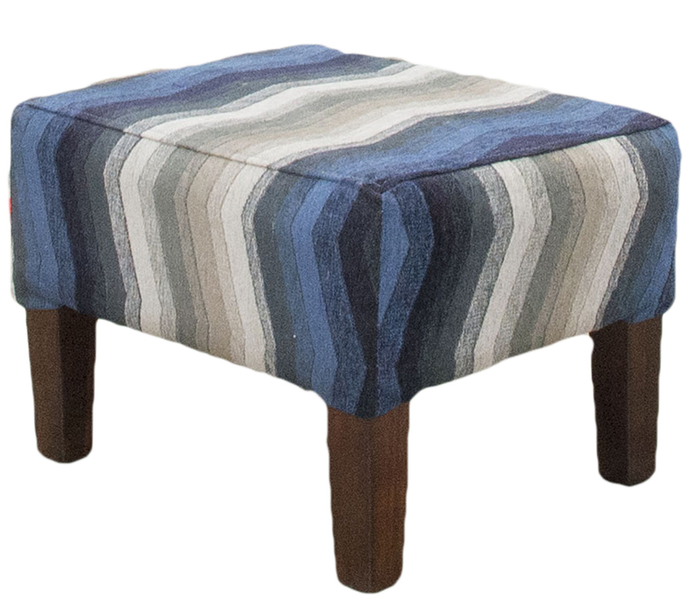 Harvard Footstool in  17019  Bronze Collection Fabric