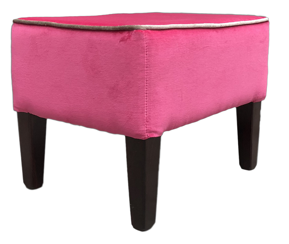 Harvard Footstool Customers Own Fabric
