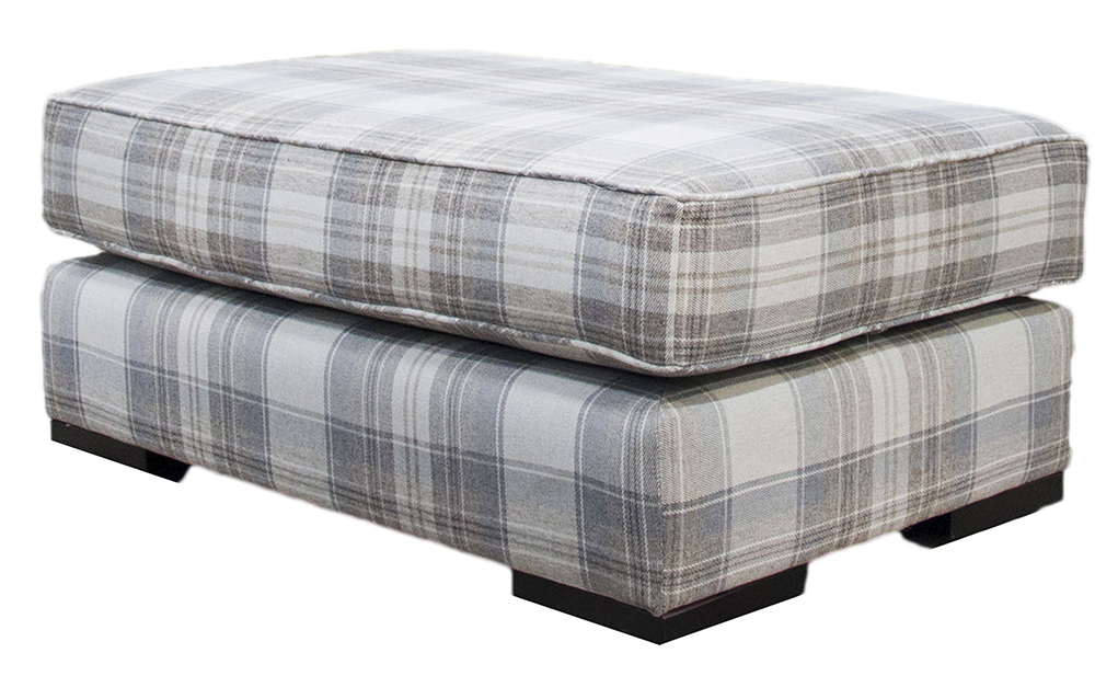 Imperial Island Aviemore Plaid Linen Silver Collection Fabric