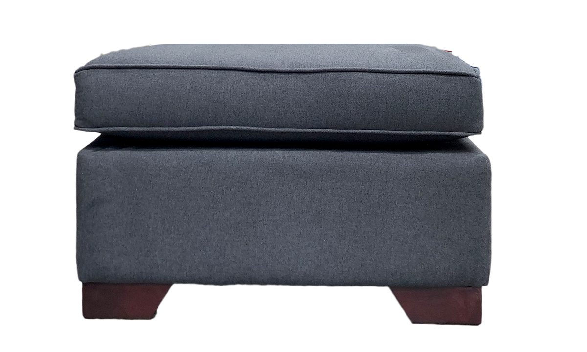 Imperial Footstool in Shetland Noir, Bronze Collection