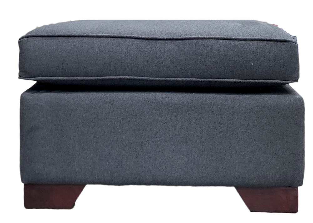 Imperial Footstool in Shetland Noir Bronze Collection Fabric