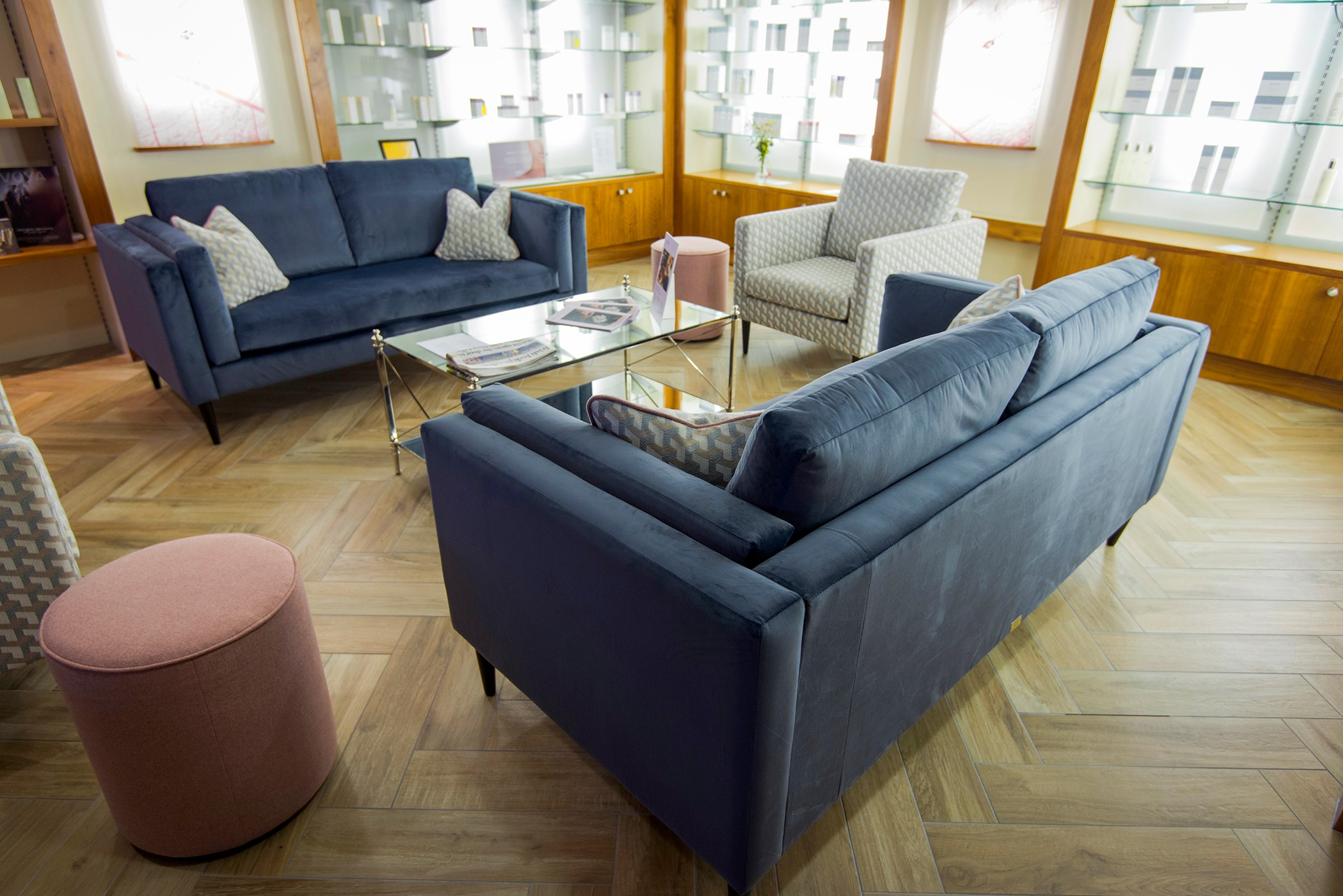 Sebastian sofas, chairs and pluto footstools