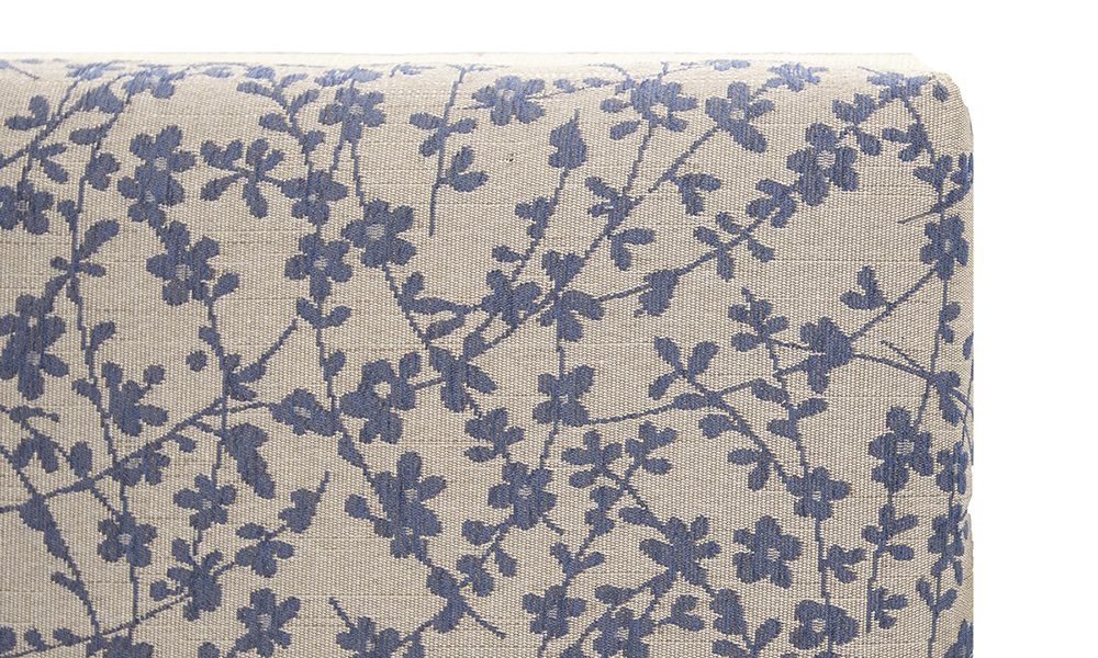 Kinsale-3ft-Headboard-close-up-in-Kwint-Navy-Silver-Collection-Fabric
