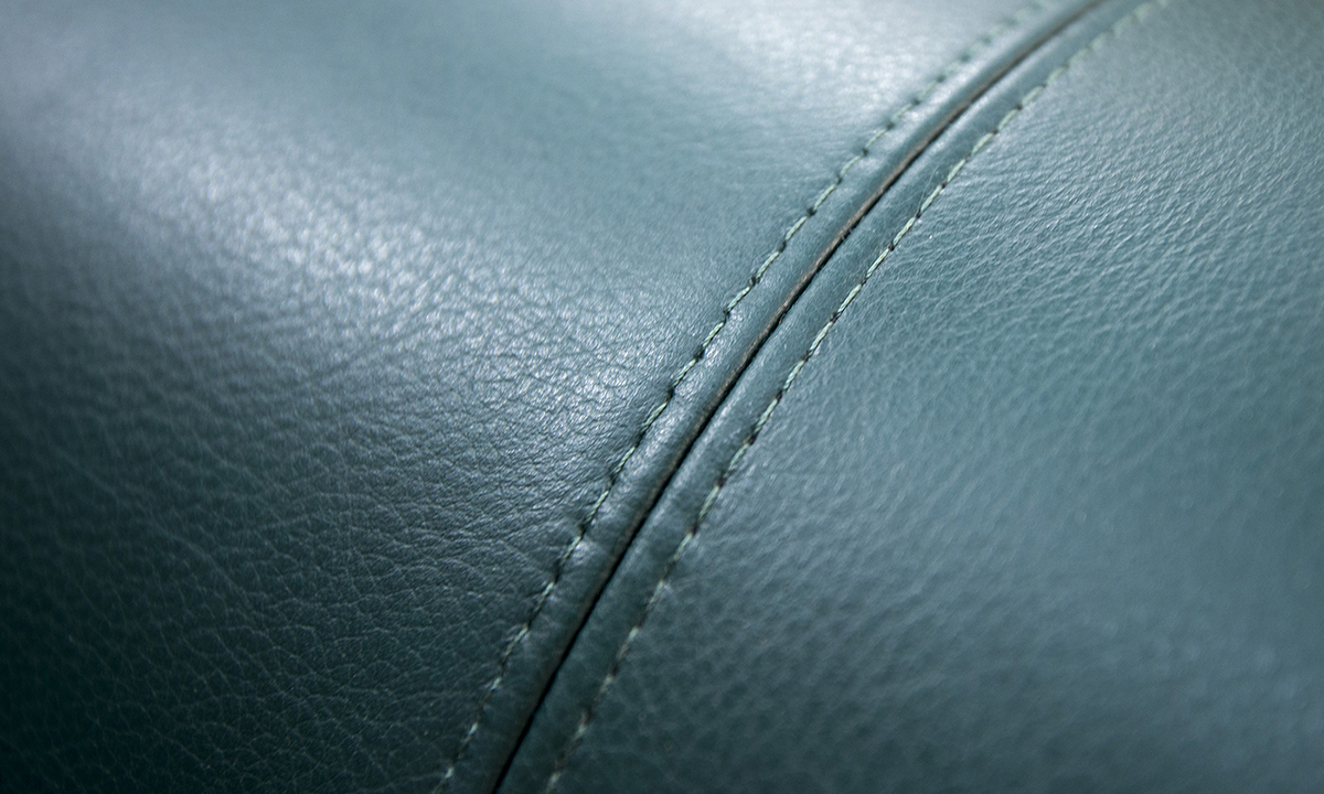 Stitching Detail, Chelsea Leather Emerald Green