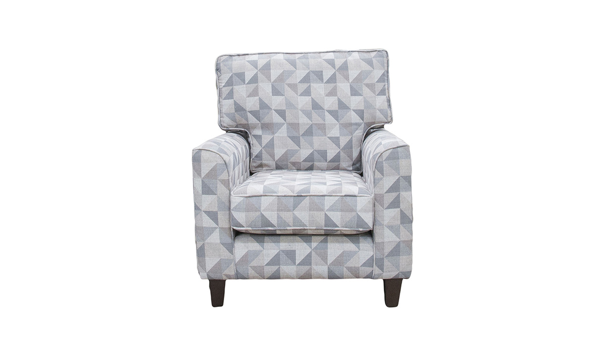 Leon Chair in a Silver Collection Fabric