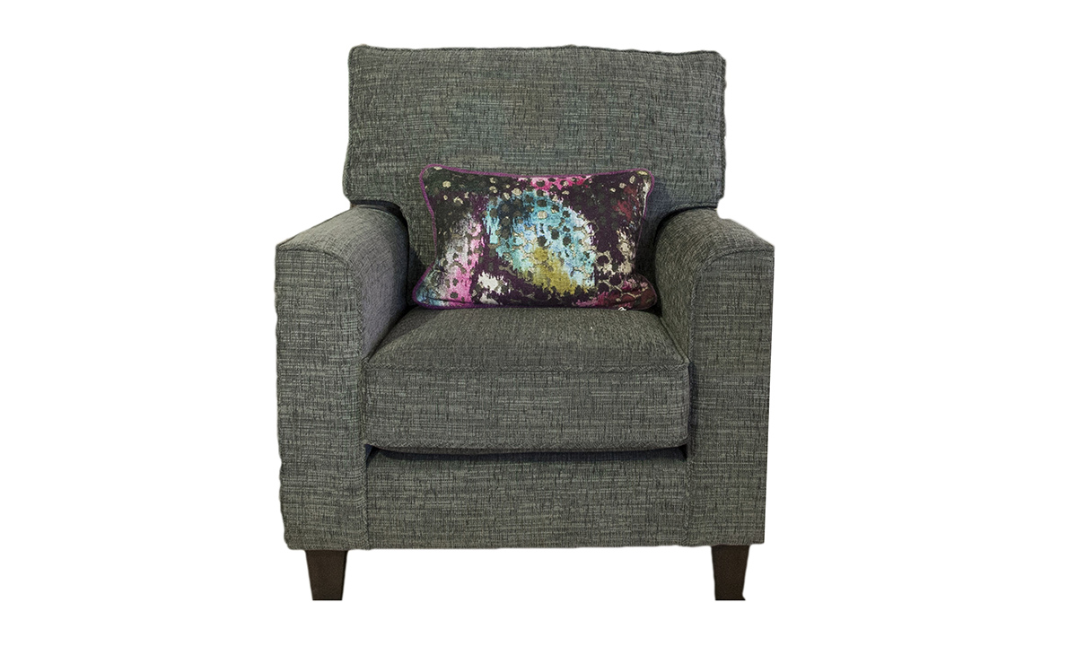 Leon Chair -in Corrine Charcoal, Bronze Collection Fabric