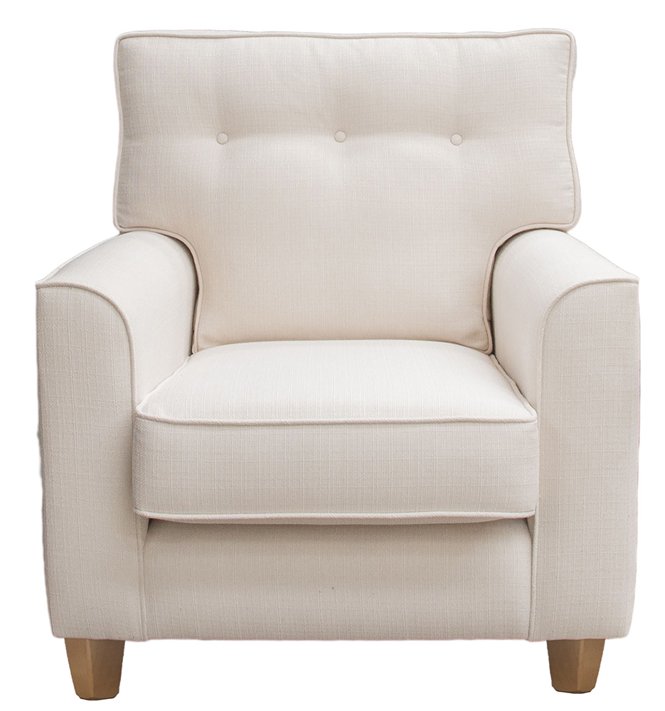 Leon Chair - Light Button Back - Aosta Cream