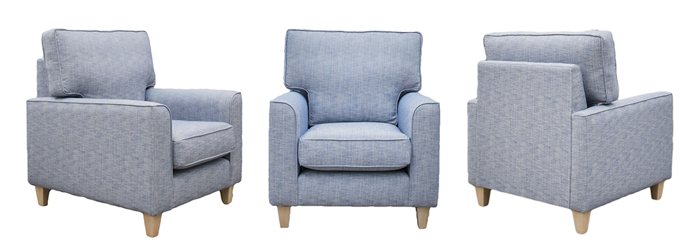 Leon Chair Varadi Plain Nordic Blue Silver Collection