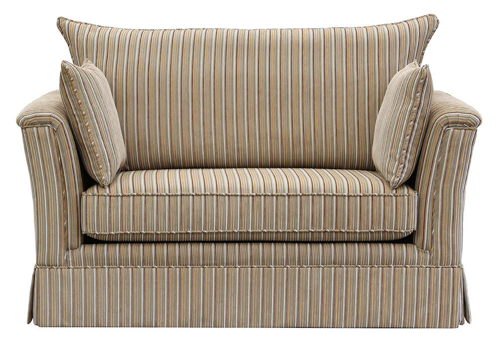 Madison Love Seat, SofaBed Special Topaz Stripe Cedar [Silver Collection]