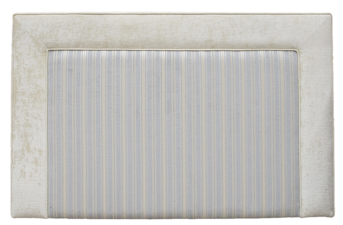 Monaco 5ft Headboard - Side Panel Jbrown Modena Ivory  FR Inside Tolstoy Stripe Ocean