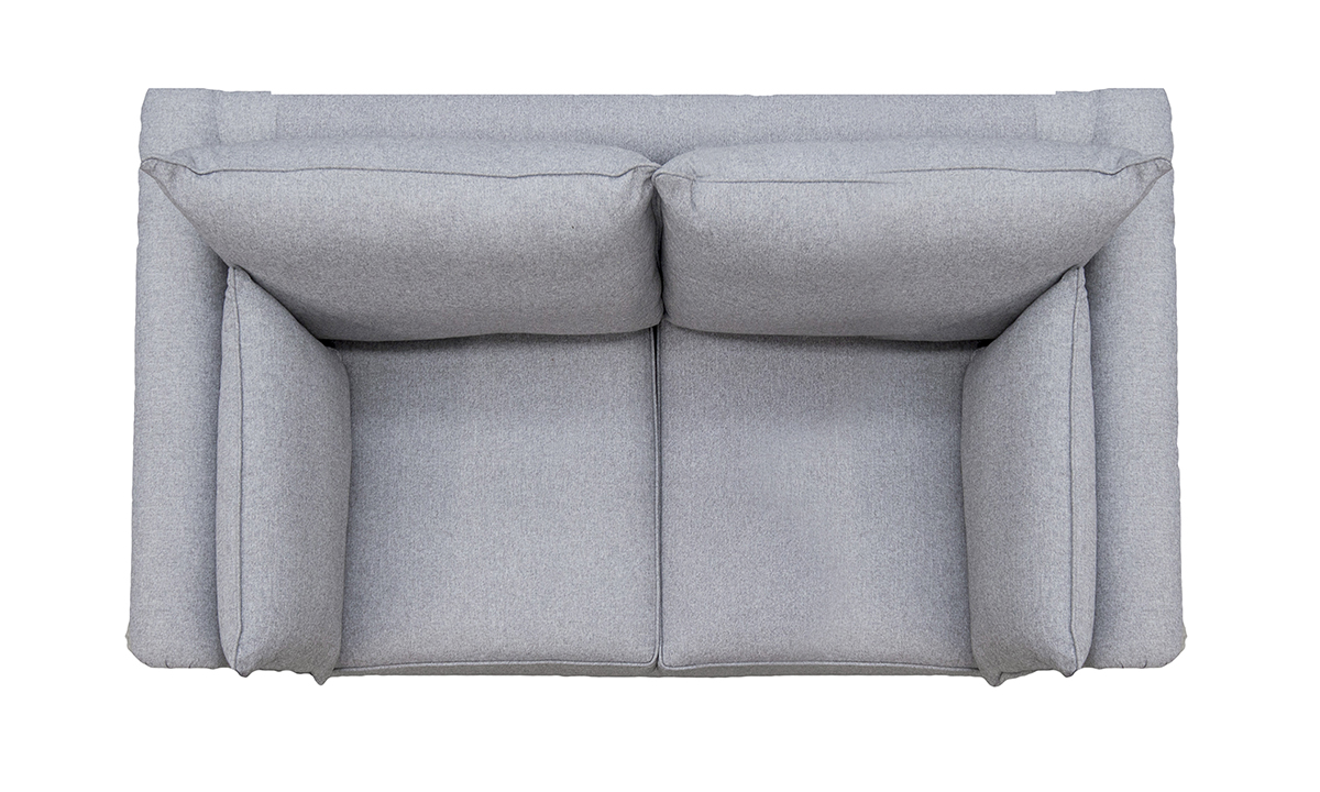 Monroe Small Sofa Top View in Tweed Gallant Silver Collection
