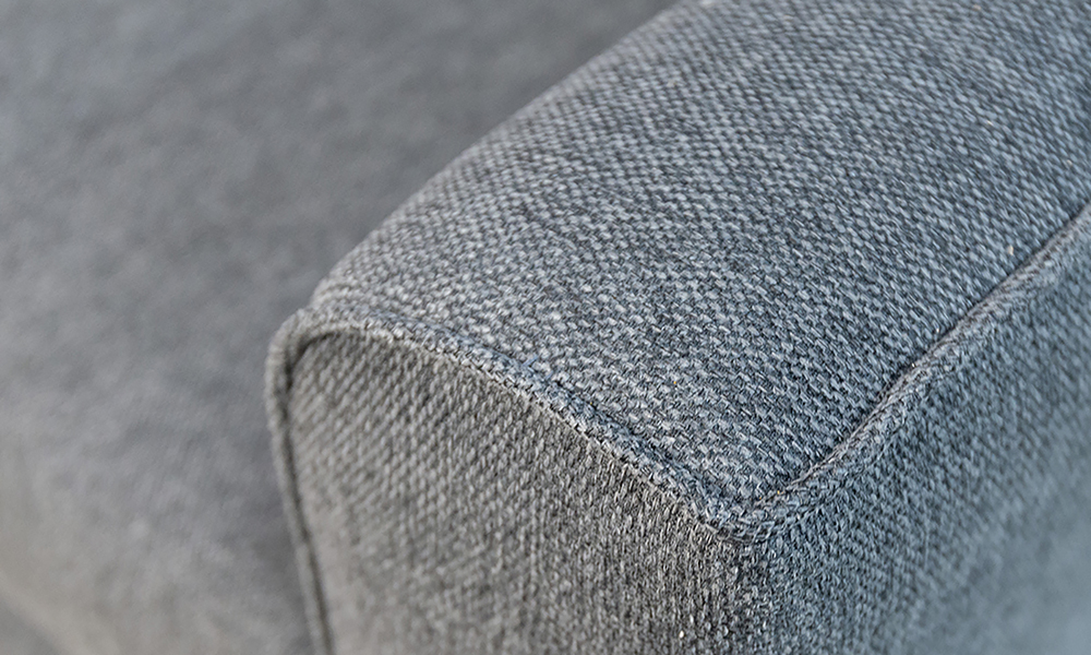 Nolan 3 Seater Arm Detail in Soho Dark Grey, Silver Collection Fabric