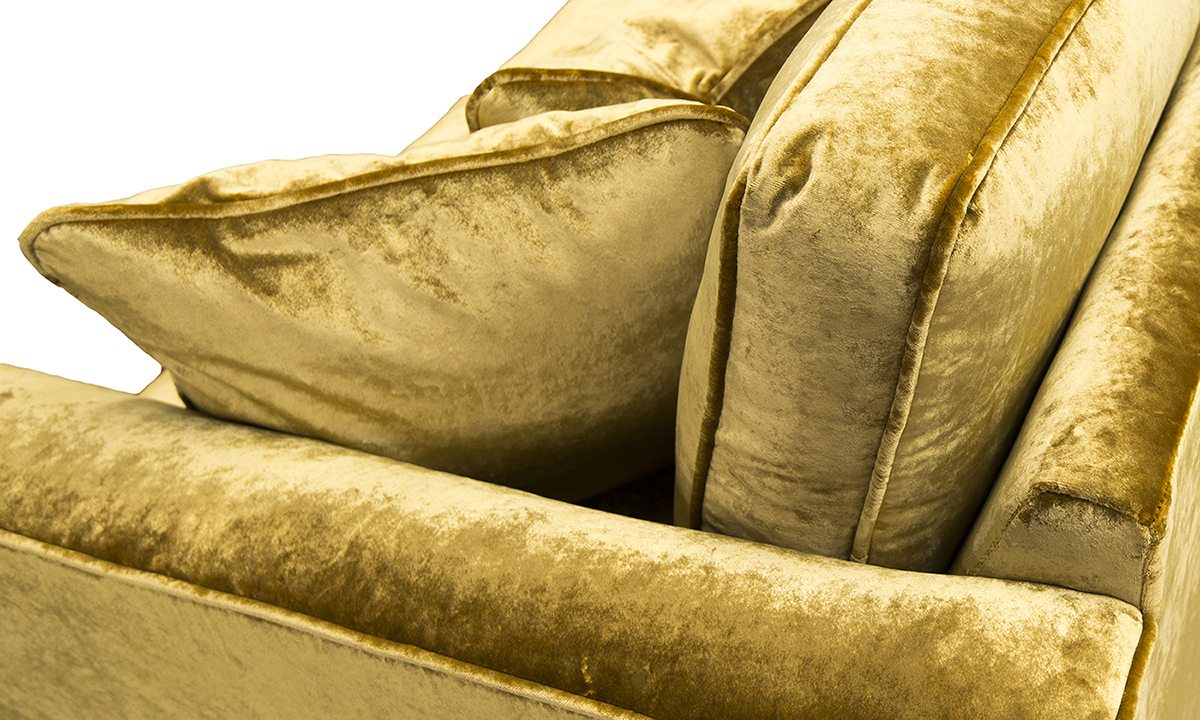 Back Cushion Detail,  VStella Mustard, Platinum  Collection Fabric