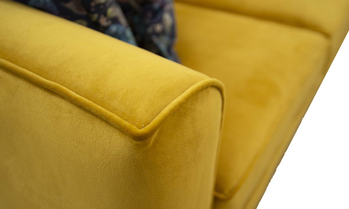 Nolan-Large-Sofa-arm-detail-in-Warwick-Plush-Turmeric-Gold-Collection-Fabric