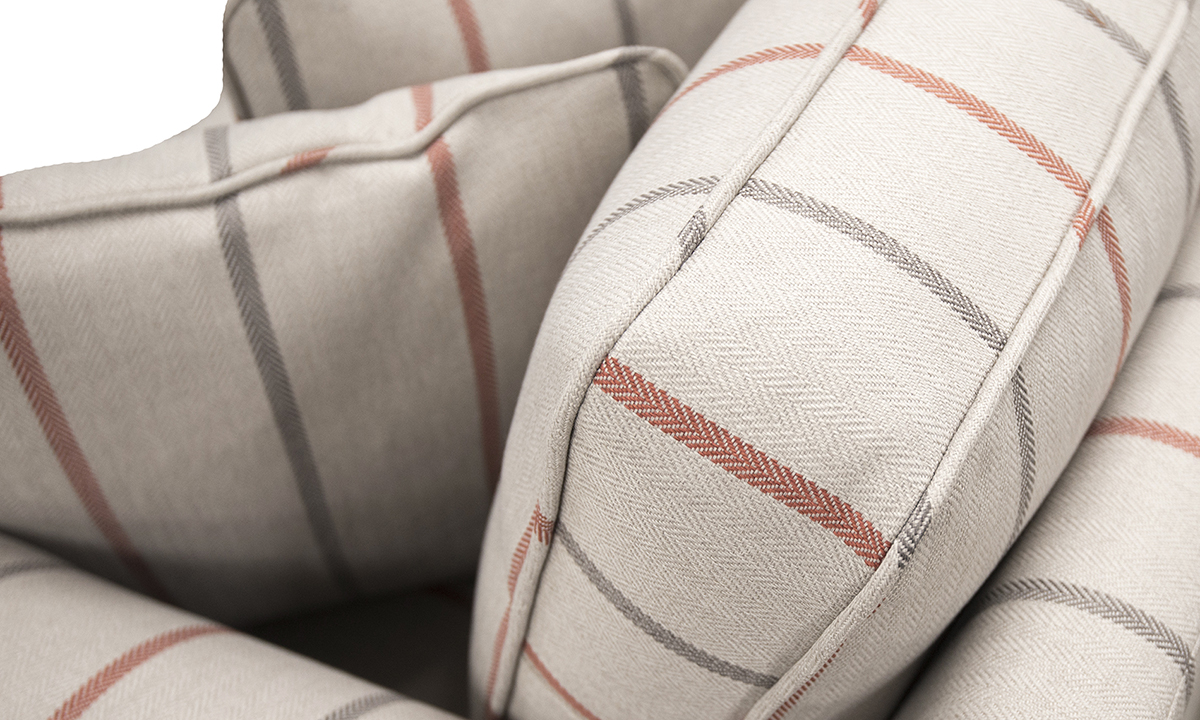 Nolan-Love-Seat-cushion-back-detail-in-Quattro-2119-Platinum-Collection-Fabric