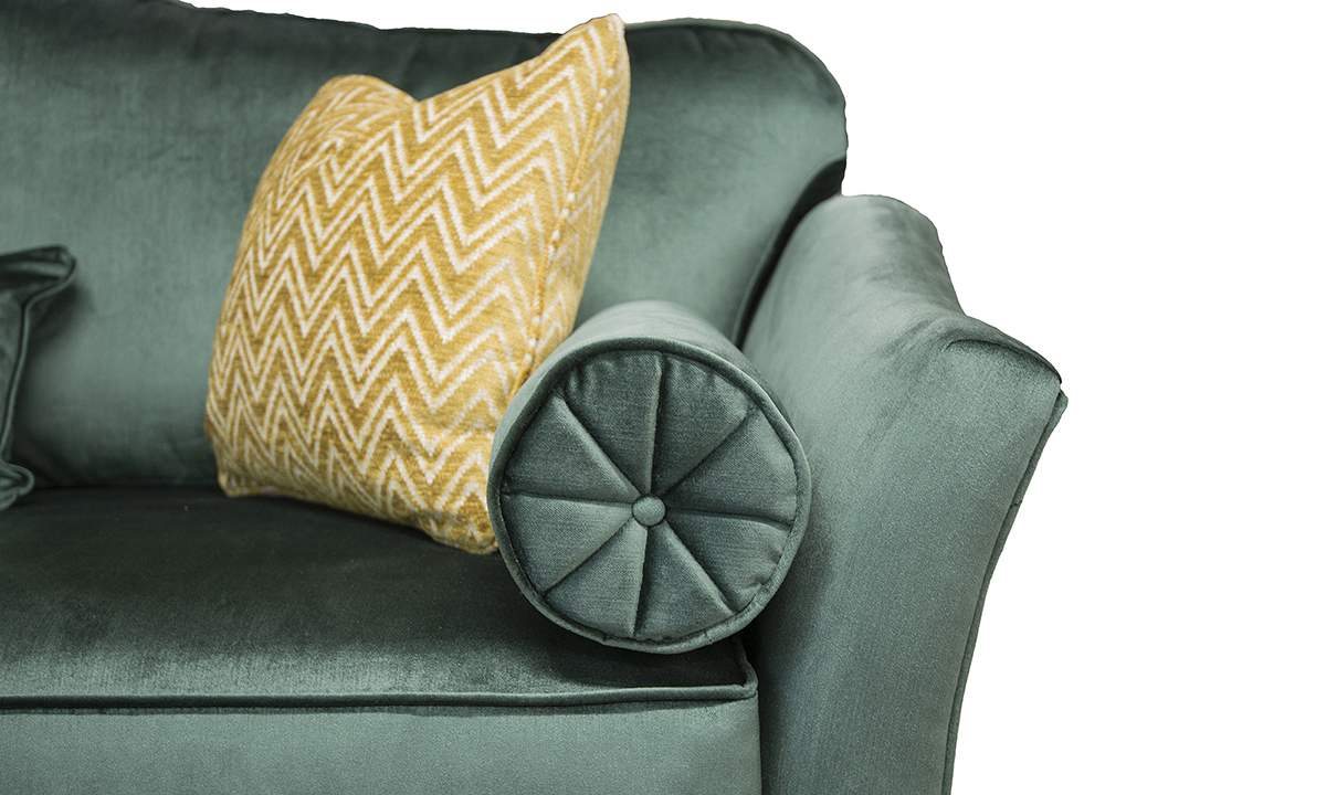 Othello-Large-Sofa-Arm-Detail-in-Erasmus-Lincoln-Green-Gold-Collection-Fabric