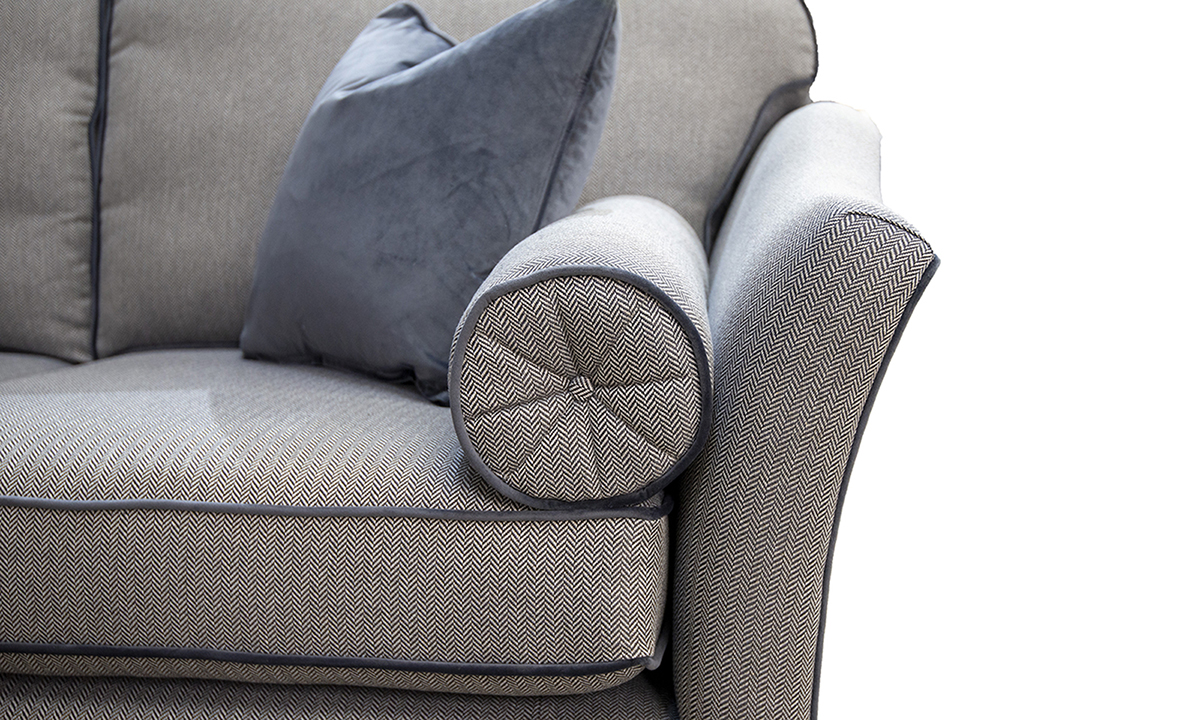 Othello-Small-Sofa-detail-in-Porto-Charcoal-Silver-Collection-Fabric