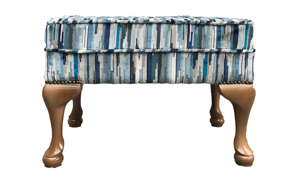Queen Anne Footstool in Customers Own Fabric