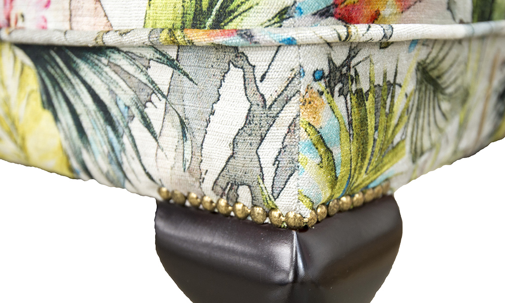 Queen-Anne-Footstool-detail-in-Paradise-Multi-Platinum-Collection-Fabric