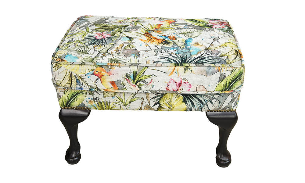 Queen-Anne-Footstool-in-Paradise-Multi-Platinum-Collection-Fabric