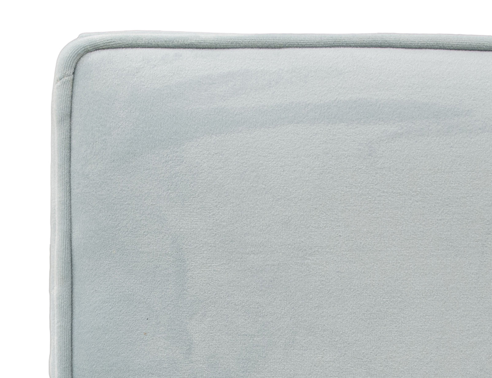 Piper 5ft Headboard Close Up - Plush Velvet Sky