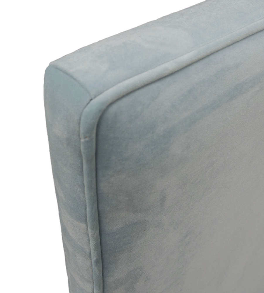 Piper 5ft Headboard Detail - Plush Velvet Sky