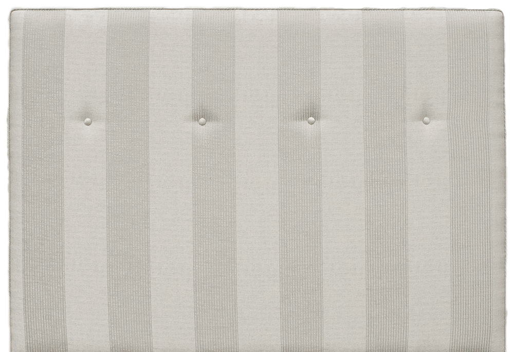Piper Headboard 4ft6 (Bespoke - Light Buttons) - Nebbiola Stripe Hession