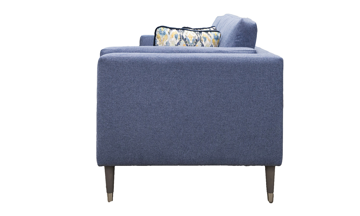 Sebastian 3 Seater Sofa in Soho Blue, Silver Collection Fabric