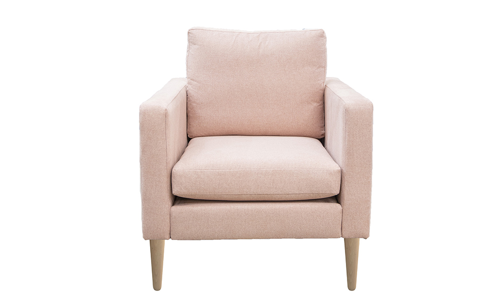 Sebastian Chair Side, Soho Blush, Silver Collection Fabric