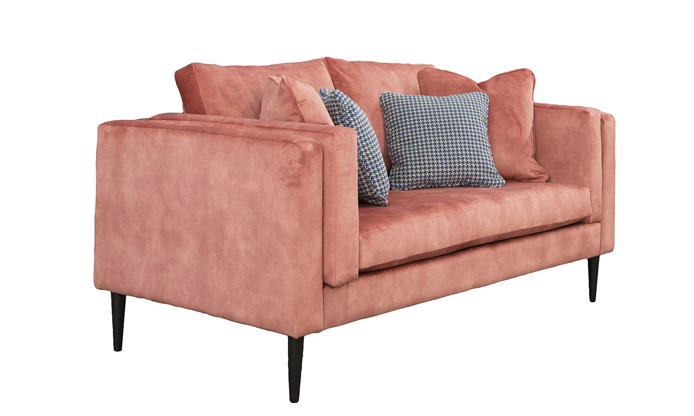 Sebastian 2 Seater Sofa in Lovely Coral, Gold Collection Fabric