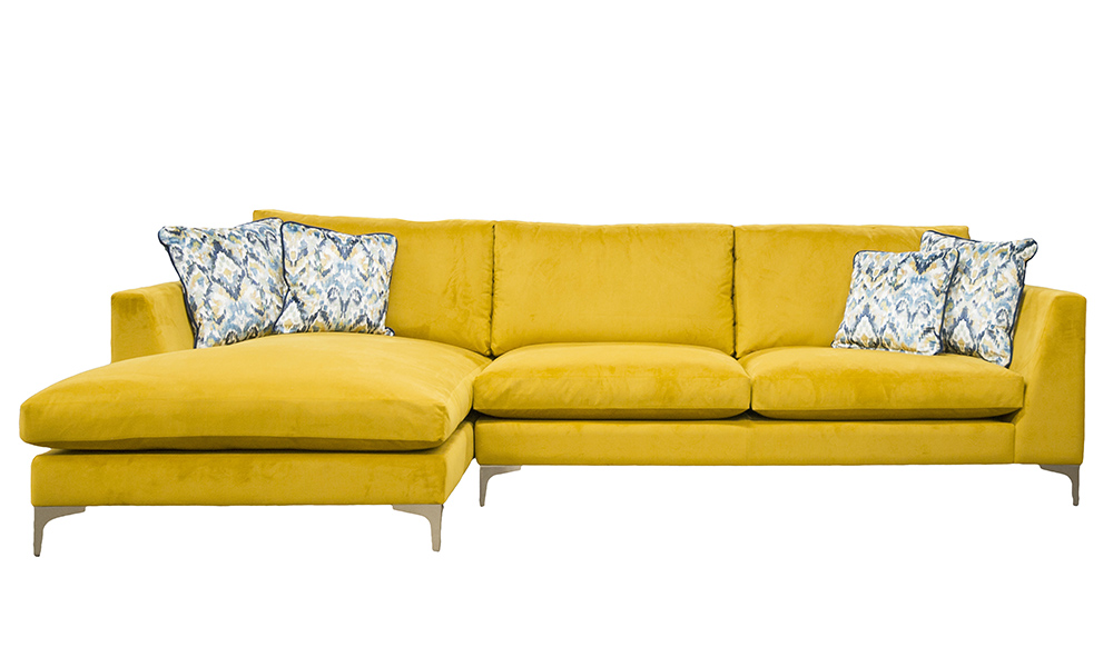 Baltimore 3- eater lounger in Plush Turmeric- Gold Collection Fabric