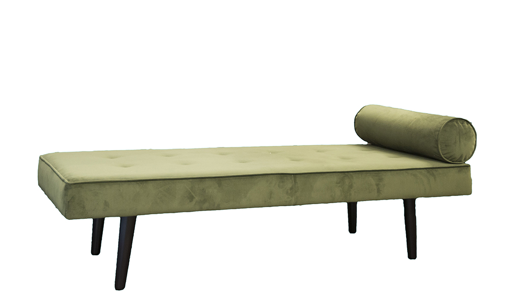 Day Bed in Plush Vine, Gold Collection Fabric
