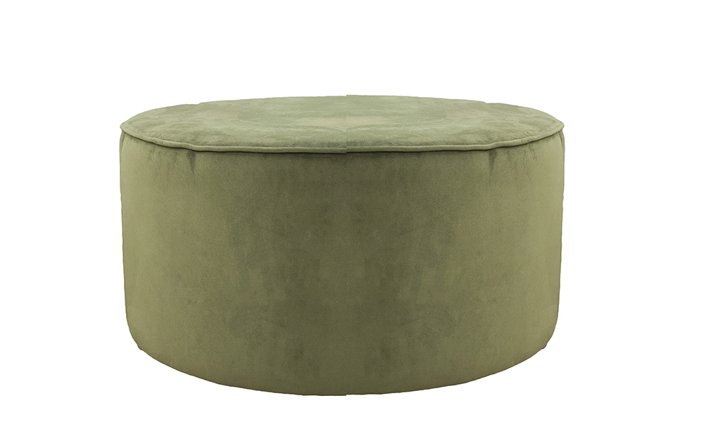 Jupiter Coffee Footstool Plush Vine, Gold Collection Fabric