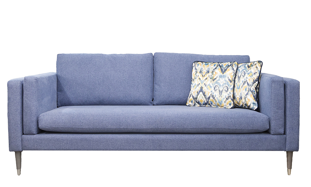Sebastian Sofa in Soho Blue Silver Collection Fabric